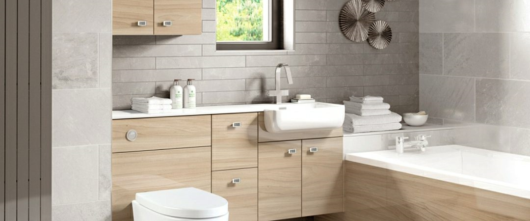 JJO Urban Gloss Elm Bathroom